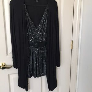 Style & CO TUNIC W/ attached sequin top